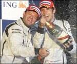 Button leads Brawn to dream one-twodebut