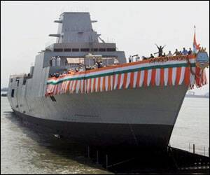 India launches stealth destroyer INS Kochi