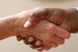 Britons 'waving goodbye to humble 'handshake'