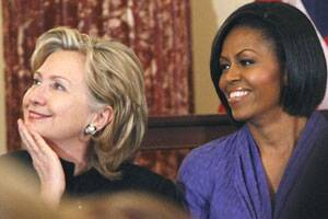 Michelle Obama 'proud' that a woman might be next US ...