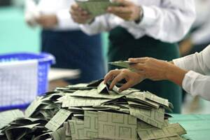 Myanmar army-backed parties set to sweep rare poll