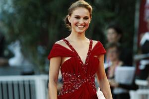 Portman goes topless to promote Dior