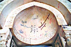 Running short of attendants,protected monuments in city fall prey tovandals