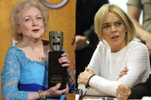 Lindsay clashes with Betty White?