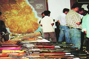 CPM ammo gone,arms tumble out in Bengalvillages