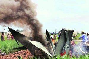 MiG-21 crashes,pilot ejects safely