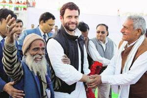 Rahul adopts indira s garibi hatao slogan the indian express for Meaning of farcical in hindi
