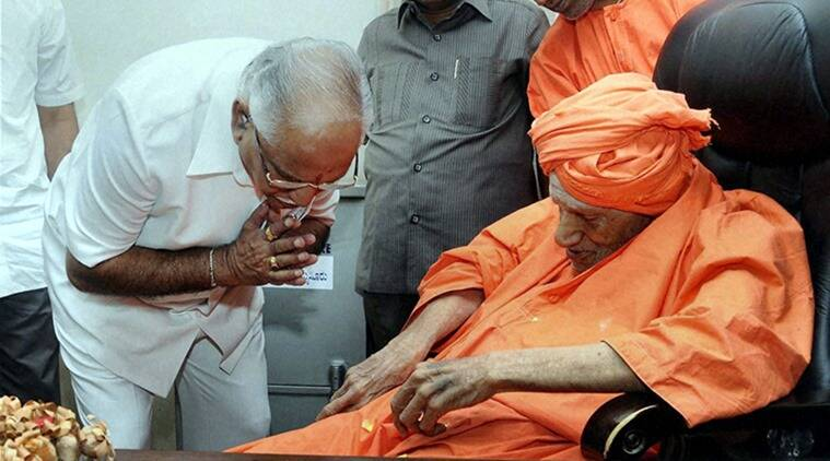 Sri Shivakumara Swami, Swami Shivakumara, Shivakumara Swami health, Lingayat leader Shivakumar Swami, Lingayat community, Karnataka Swami Shivakumara, Swami Shivakumara Amit Shah, PM Modi Swami Shivakumar, Karnataka lingayat community, Who is Shivakumara Swami, Indian express, latest news