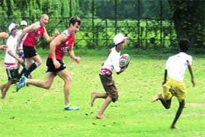 Rugby fever grips Kolkata,Spitfires lend helpinghand