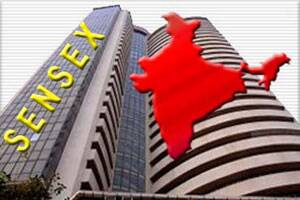 Sensex closes 27 pts up,telcos rise