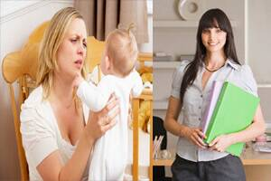Stay at home mums unhappier than workingpeers