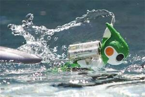Japanese scientists create first swimming robot