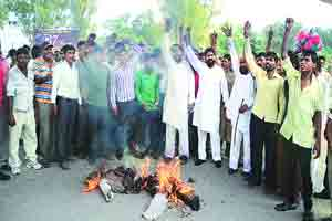 Protest against garbage collection company