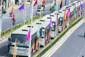 'Dirty' buses: AMC slaps fine on BRTS contractor