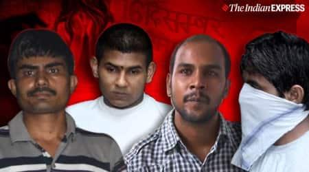 December 16 gangrape convicts hanged, Delhi gangrape case convicts hanged, December 2012 gangrape convicts death penalty, tihar jail, delhi rape case convicts dead, india news, indian express