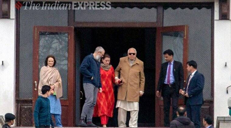 Farooq abudllah, omar abdullah, kashmir NC leaders, national conference leaders, indian express