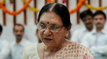 Anandiben Patel breaks down while calling to rid malnutrition, build toilets
