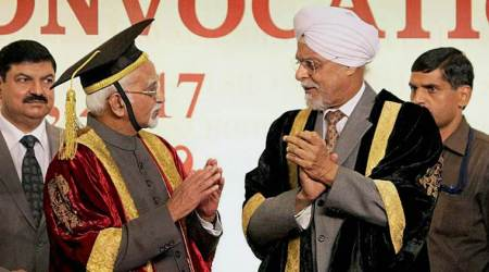 In final address as Vice President, Hamid Ansari warns against military might halo, insecurity of Dalits,minorities