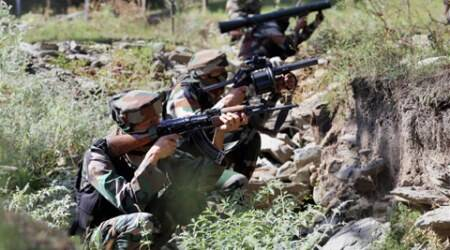 Army attempt to flush out militants holed up in North Kashmir village