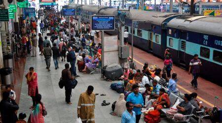 Tamil Nadu: Woman, two children jump before train