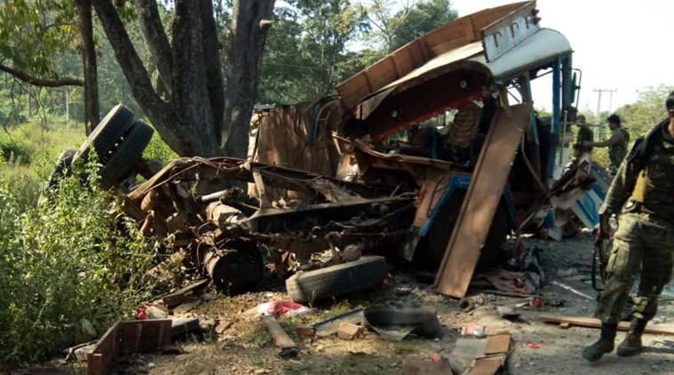 Maoists target bus with BSF personnel in Chhattisgarh's Bijapur, six injured