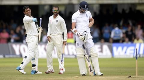 One for the ages: Dhoni and India have the last laugh at Lord's. Source: Reuters