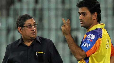 N Srinivasan, who owns India Cements and IPL franchise Chennai Super Kings, had resigned as BCCI president as the court saw him as a hurdle in a free and fair probe of the IPL corruption scandal. (PTI Photo)