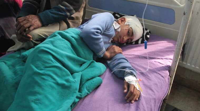 Shopian school bus attack victim suffers head injury