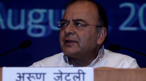 Finance Minister Arun Jaitley  at a press conference in New Delhi on Saturday. (Source: Prem Nath)