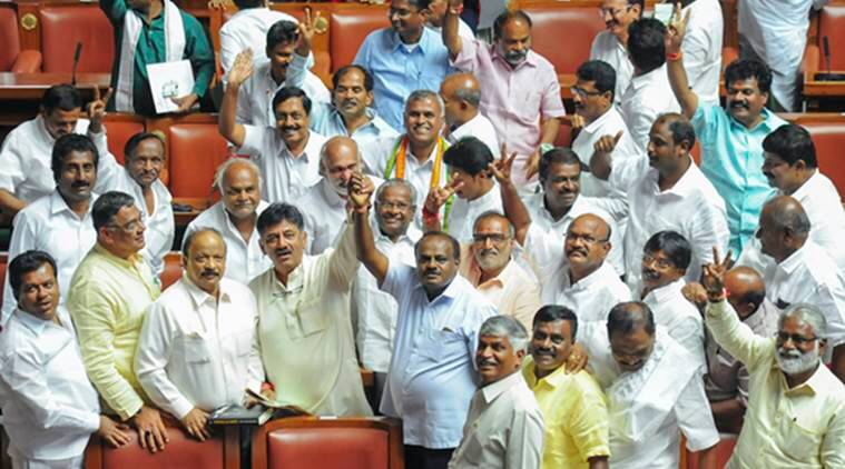 Karnataka elections: yeddyurappa resigns, jdu-congress to form government