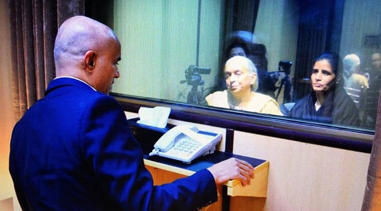 Kulbhushan Jadhav meeting family members