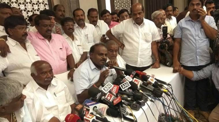 karnataka assembly elections 2018, karnataka election results, Lessons from the past: Can Kumaraswamy repeat Deve Gowda's giant killer act in 1996