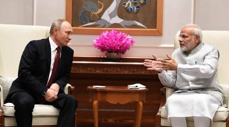 Vladimir Putin, putin india visit, modi putin meeting, Putin in India, narendra Modi meets putin, Putin in India LIVE, s-400 missile, indian russia defence deal, India-Russia, India-Russia agreements, India-Russia bilateral summit, Indian express news, latest news