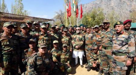 PM Narendra Modi celebrates Diwali this year again with troops posted along LoC