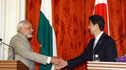 Prime Minister Narendra Modi held talks with his Japanese counterpart Shinzo Abe and met other leaders.