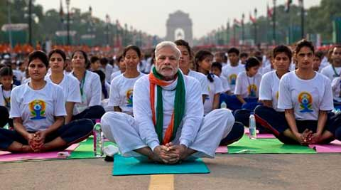 international yoga day, yoga day, yoga mats, china yoga mats, PM Narendra Modi, Narendra Modi, FERA, Foreign Contribution Regulation Act, Societies Act, Rahul gandhi, Vasundhara Raje, Lalit Modi, Nitin Gadkari, Indian Express