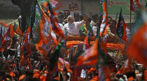 Thousands turn up at Narendra Modi's Varanasi roadshow, BJP's PM candidate files nomination papers
