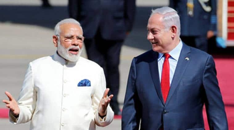 modi in israel, israel, pm modi israel, pm modi, modi israel visit, narendra modi, israeli prime minister, benjamin netanyahu, india israel relation, modi israel visit live, modi israel visit updates, modi israel live news, indian express