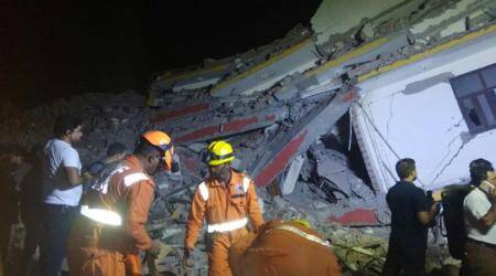 Greater Noida building collapse: NDRF carries out rescue operations, two bodies retrieved