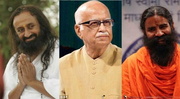 Baba Ramdev and Sri Sri Ravi Shankar and LK Advani are among those to be conferred the Padma awards this Republic Day.