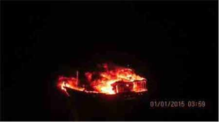 Coast Guard responds with a Board of Inquiry and footage of a boat on fire