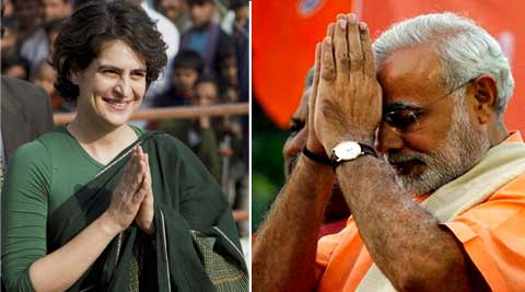 Priyanka Gandhi today hit out at Narendra Modi over his martyr remark.