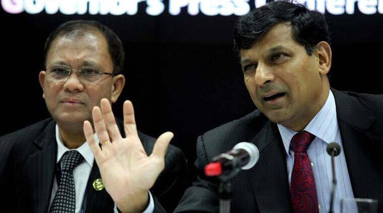 RBI Governor Raghuram Rajan during the bi-monthly monetary policy review, in RBI head quarter on Tuesday. (Source: Express photo by Prashant Nadkar)