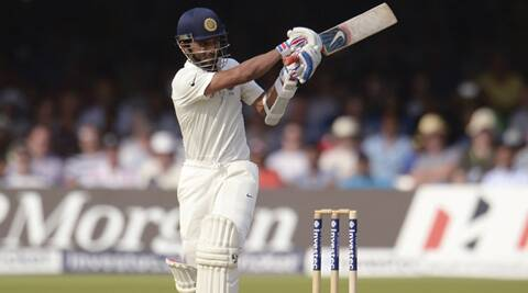 Rahane, in his seventh Test, took advantage of England's tiring bowling attack and brought up his second Test century. (Source: Reuters)