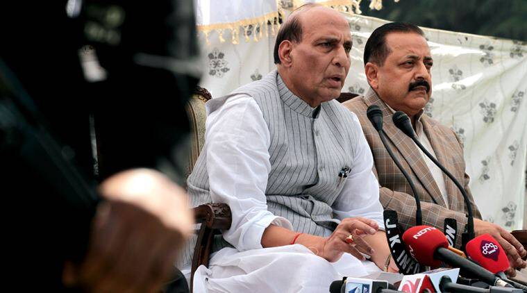 kashmir, kashmir unrest, kashmir violence, all party meet, Rajnath Singh, Rajnath Singh kashmir, Rajnath singh all party, kashmir violence, kashmir unrest, kashmir valley rajnath singh, india news, indian express