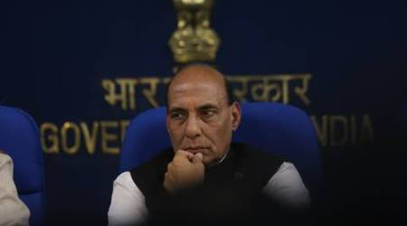 Union Home Minister Rajnath Singh at a presser in New Delhi on wednesday. Express Photo by Tashi Tobgyal New Delhi 130116