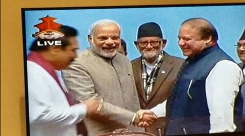 Narendra Modi, Nawaz Sharif exchange pleasantries during SAARC retreat in Nepal