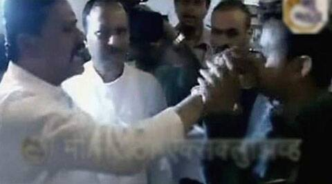 A video footage showed Shiv Sena MP force-feeding the IRCTC staffer.