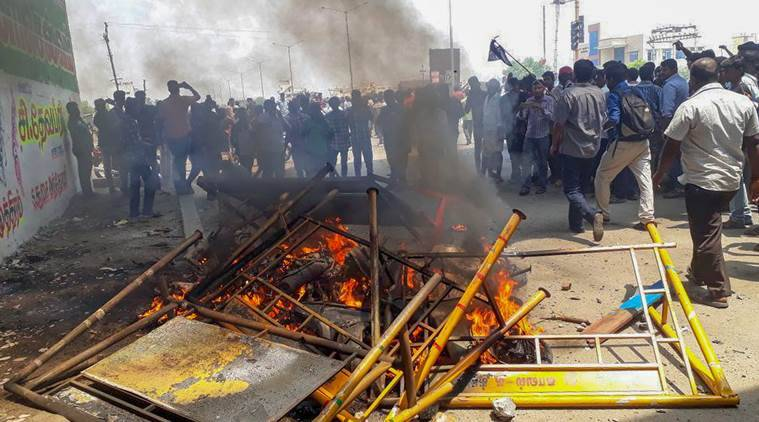 Violence broke out on May 22 during protests demanding closure of the factory over pollution concerns and police opened fire, resulting in the death of 13 people.