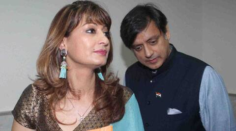 Sunanda, wife of former Union Minister Shashi Tharoor, was found dead in a five-star hotel in South Delhi on the night of January 17. (Express photo by Pradip Das)